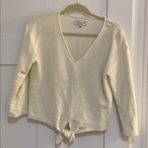 Texture & Thread by Madewell Small Tie Front Top